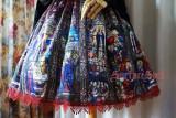 SurfaceSpell ~Rose scripture~Printed high waist fishbone lolita skirt