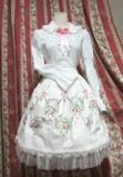 SurfaceSpell ~Rose-dance~Gothic original embroidered normal waist skirt