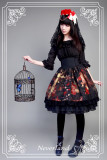 *Neverland*Pick flowers girl print Fishbone high waist lolita skirt
