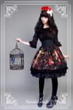 *Neverland*Pick flowers girl print Fishbone high waist lolita skirt