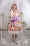 *Neverland*The courtyard cat print normal waist lolita skirt