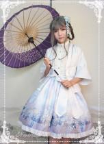 *Neverland*Hyakki Yagyō Yuki-Onna jpfashion print haori+skirt