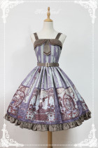 *Neverland*Steam punk cat Peter Pan Collar with bow tie lolita jsk dress
