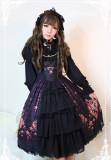 *Neverland*Gem swan Round neckline open front lolita JSK dress pre-order