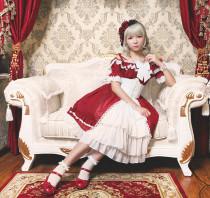 *Neverland*Colorful fairy tale high waist short sleeve Lolita dress