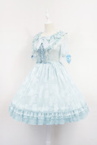*Neverland*Summer secrets Short sleeved small high waist op dress pre-order