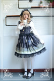 *Neverland*Arabian Nights lolita small flying sleeve beaded chain high-waisted JSK dress