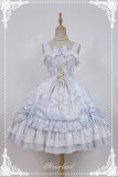 *Neverland*Antique clock chiffon print Sweet lolita jsk dress