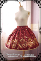 *Neverland*Mermaid Song gold stamping normal waist lolita skirt