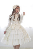 *Neverland*Bell unicolor lace layer lotus leaf edge lolita JSK dress