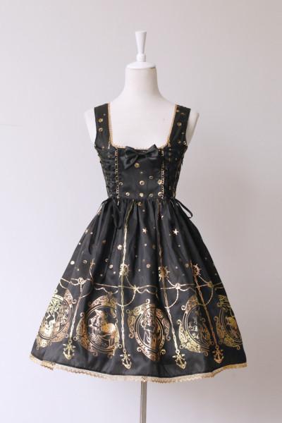 *Neverland*Mermaid Song gold stamping jsk dress