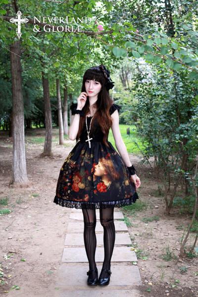 *Neverland*Flower-choosing Girl Short Sleeve Eyelash Lace One-piece
