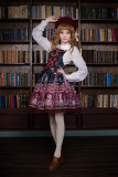 *Neverland*Chocolate Bear Chocolate Bear print lolita Strap Jumperskirt