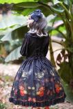 *Neverland*Pick flowers girl print long sleeve lolita op dress