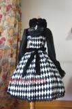 SurfaceSpell ~Rhombic splicing sling gothic JSK dress