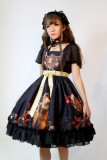 *Neverland*Song of Time Lolita short sleeved normal waist op dress pre-order