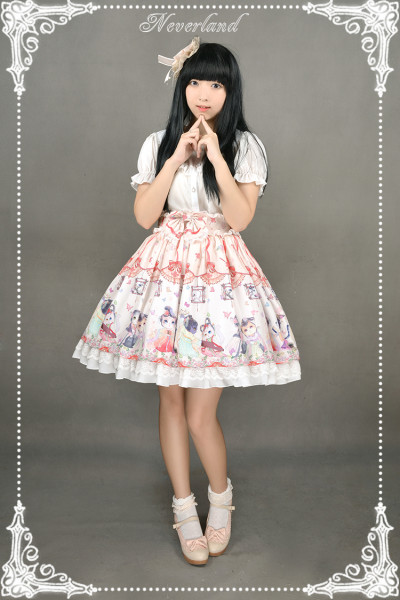 *Neverland*Chinese Walking Cat Skirt