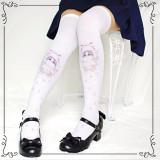 Sweet Cartoon Cat Colit Filar High Socks