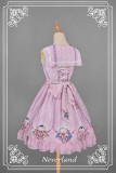 *Neverland*Maneki neko print Detachable sailor collar lolita jsk dress