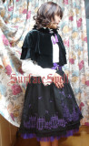 SurfaceSpell ~The church under the moon~Gothic  embroidered  lolita skirt + cape
