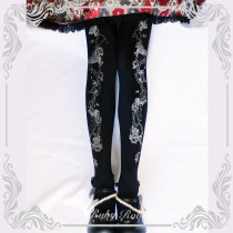 【Ruby rabbit】Thorns corolla print lolita tights