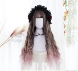 ★Kyrene★65cm+Gradient water wave curly lolita wig
