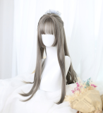 ★Kanako★65cm+Long straight lolita wig with bangs