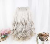 ★Lyrose★40cm+Air Fringe Lolita Wig With 2 Removable Ponytails Wig