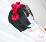 ★Akane★35cm+Black short straight lolita wig