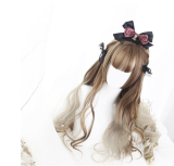 ★Doreen★65cm+Long curly with bangs Lolita wig
