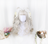 ★Lyrose★40cm+Air Fringe Lolita Wig With 2 Removable Ponytails Wig