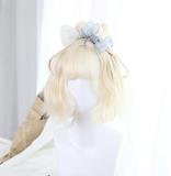 ★Iris★35cm+Milky white air banged lolita wig
