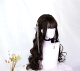 ★Phyllis★70cm+Big curly lolita Wig with air band