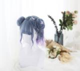 ★Magical★35cm Base water wave wig +2 Removable Ponytails
