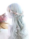 ★ L.y★55cm + Aurora colors long curly lolita wig