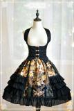 DorisNight**Vintage Rose Printed Lolita Skirt+Corset