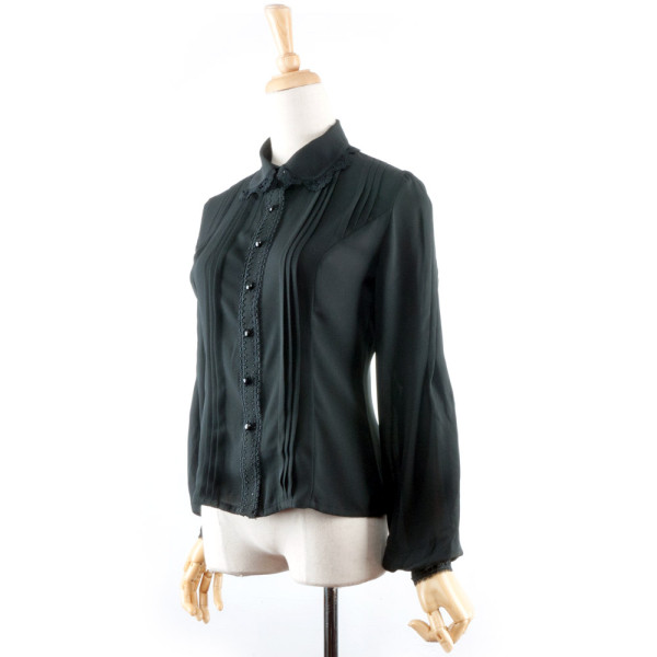 Classic Lapel Sleeved Chiffon Blouse/Shirt