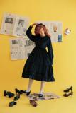 **Miss pearl*Vintage Long Sleeve Velvet Lolita OP Dress