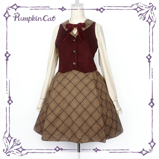 A top student in a detective college~vest+skirt