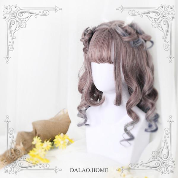 ★Amaya★55cm+Roman rolls Straight Bang Lolita Wig