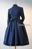 AmaStacia**Military-Style Cardigan Skirt/Long Sleeve OP Dress