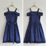 DorisNight**Cherry Rum*Sweet Pure Cotton Lolita JSK Dress