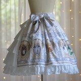 DorisNight**The cat tarot*Lolita Print Skirt