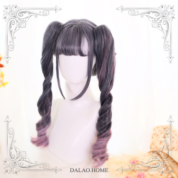 ★Lyrona★ 55cm+Gradient Lolita Wig With Two Removable Ponytails