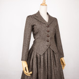 British Classic Hunting Suit Medium Length  Skirt