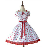 DorisNight**Cherry Rum*Sweet Pure Cotton Lolita JSK Dress