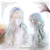 ★ L.y★55cm + Aurora colors long curly lolita wig
