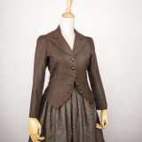British Classic Hunting Suit Medium Length  Skirt