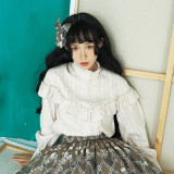 **A Lot Of Button*Vingtage Pure Cotton Long Sleeve Lolita Blouse