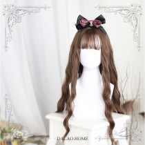 ★Sabrina★70cm+Water wave curly lolita wig with bangs